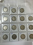 Canada Silver 50 Cents 1937 To 1967 In Sequence 31 Coins Very Nice