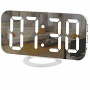 Digital Clock Large Display Led Electric Alarm Clocks Mirror Surface For White