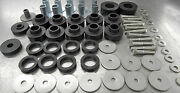 New Jeep Cj5 Body Mount Kit Complete W/tube Washers,bushings And S/s Bolts '78-'83