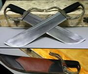 Top Pure Copper Chinese Wing Chun Knives Short Sword Pattern Damascus Steel Dao