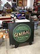 Original Pre 1920 General Gasoline Painted Metal Gas Sign 30andrdquox25andrdquo Authenticated