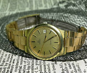 Vintage Omega Geneve Manual Cal 1030 Gold-plated Gentsand039 Watch C1974.