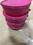 Tupperware New Microwave Cereal Bowls W/seals  Pink