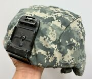 Genuine Usgi Ach Mich Combat Helmet With Acu Cover And Front Bracket - Large