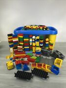 Lego Duplo Base Plate Building Table And Blocks Train Cars Figures 100 Vtg To Now