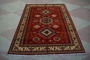8and03910 X 11and03911 Feet Afghan Handmade Vintage Tribal Rug. Natural Colors And Design.