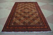 8and0395 X 12and0395 Feet Afghan Handmade Mazar Design Large Area Rug Multiple Colors.
