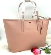 Auth Nwt Tumi Womenand039s Everyday Zip Top Blush Saffiano Leather Tote Shopper Bag