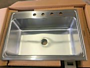 Elkay Lustertone Dlr312210pd4 Single Bowl Top Mount Stainless Steel Sink With...