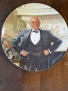 America's Oldest 1854 Edwin M. Knowles Annie Collectible Plates Daddy Warbucks