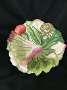Fitz And Floyd French Market 14 1/2 Large Salad Vegtable Serving Bowl Excellent