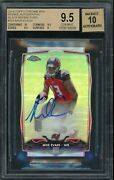 2014 Topps Chrome Mini Black Refractor Mike Evans Rookie Rc Auto /25 Bgs 9.5
