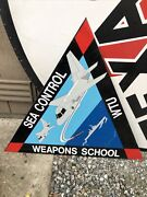 """Large Usn Sea Control Weapons School Metal Sign 31""""h X 34""""w Military"""