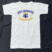 Original Deadstock Wwii 109th Infantry T-shirt W/ Paper Tag Indiantown Pa