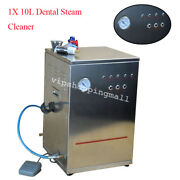10ldental Steam Cleaner Cleaning Machine Dental Lab Equipment Clean Casting Fast