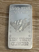 Silver Ten Troy Ounces .999 Fine Formerly Stored At Us Assay Office