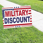Military Discount Portable Garden Advertising Coroplast Yard Sign With H-stake