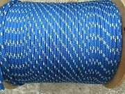 5/16 Undersize X 100and039 Sailhalyard Line Jibsheets Double Braid Rope 3400 Lb
