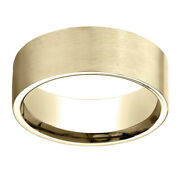 14k Yellow Gold 8.00 Mm Comfort-fit Menand039s Wedding Band Ring Sz-13