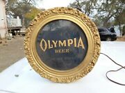 Vintage Electric Olympia Sign/light Breweriana Collectible Advertisement Bar Man