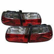 Civic Eg/eh/ej Mk5 1992-1995 3d Clear Tail Rear Light Red/clear For Honda