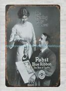 Pabst Blue Ribbon Beer Of Quality Metal Tin Sign Decor Stores