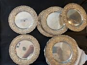 Schultz Of Baltimore Sterling Repousse Set Of 12 Bread Plates Kirk Stieff Era