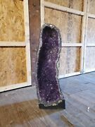 Groove 31 Tall 176lbs Amethyst Geode Cathedral Crystal Quartz Brazil Large