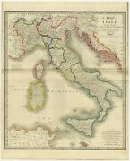 Antique Map Of Italy By Wyld 1854