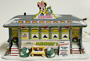 Department 56 Mickey Merry Christmas Village Minnieand039s Diner/with Box