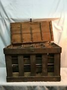 Primitive Farm Country Wood Fruit Berry Box Crate With 36 Pint Wood Boxes