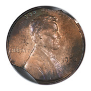1970-s Lincoln Memorial Cent Large Date Anacs Ms63rb Triple Clip