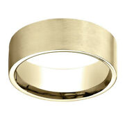 14k Yellow Gold 8.00 Mm Comfort-fit Menand039s Wedding Band Ring Sz-10