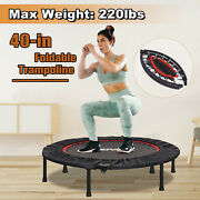 Mini Trampoline 40 Rebounder Safety Net Pad Fitness Gym Home Exercise 220lbs