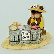 M-235, Shelly, Wee Forest Folk With Box, Retired 2003. Beach Lover Miniature