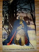 Vintage Postcard Posted 1938 Washington At Prayer Valley Forge Pa By Dw Griffitn