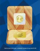 Tokyo 2020 Olympic Commemorative 10000 Yen Gold Coin Victory Glory Mind Body Jp
