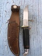 1950's Excellent Western Usa Boy Scout Hunter With Sheath.