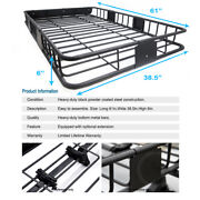 Roof Top Rack Heavy-duty Basket Storage +extension Combo For Cts Seville Srx