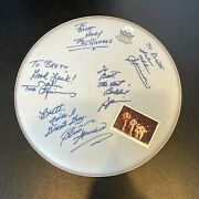 The Spinners Band Signed Autographed Drumhead With 5 Signatures Jsa Coa