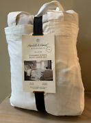 Chambray Stripe Duvet Cover Set King 3 Piece Hearth And Hand Faded Blue
