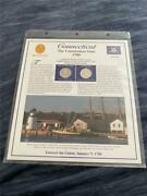 1999 Connecticut State Quarter Pandd Postal Society Stamped Commemorative Page