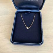 And Co By The Yard Yellow Gold Diamond Pendant Necklace M64443884360 W/box