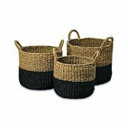 Whw Whole House Worlds Cape Cod Seagrass Baskets, Set Of 3, Paint Dipped, Chu...