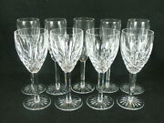 Waterford Araglin 4 Water/red Wine 7 7/8 And 5 Champagne Flutes 8.5 Glasses