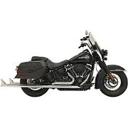 Bassani Chrome 36 Fishtail True Dual Exhaust System For 18-20 Heritage And Deluxe