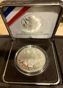 1989-s Proof 1 Silver United States Congressional Dollar Commemorative Box Ogp