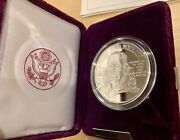 1992 P Ben Franklin Firefighters Proof Silver Medal Case Box Coa