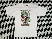 Vintage Itandrsquos Not How Deep You Fish Itandrsquos How You Wiggle Your Worm T-shirt Medium