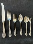 Rose Point Wallace Sterling Silver 4 Settings 6 Pieces Per True Dinner Size